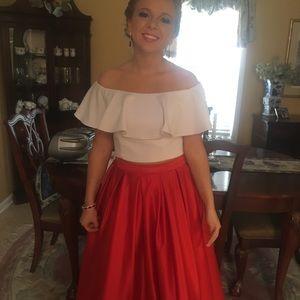 Prom Dress: Two Piece Size 7/8